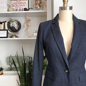 Banana Republic navy wool blazer jacket